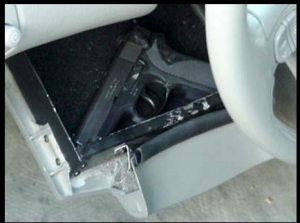 Image of Hidden Compartment behind steering wheel tilt
