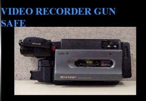 Image of Video recorder gun safe